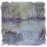 bord de rivière aquarelle (50x70)
